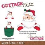 Santa Peeker Metal Die - Cottage Cutz