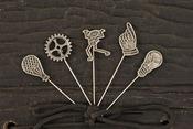 Craftsman Vintage Metal Pins - Prima