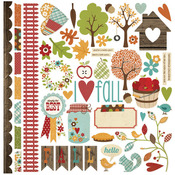 Harvest Lane Fundamentals Cardstock Stickers - Simple Stories
