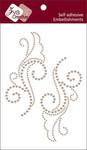 Taupe Pearl Large Flourish 2 - Zva Creative