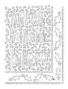 Ho Ho Holly 5 x 8 Dylusions Stencil