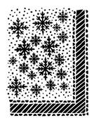 Let It Snow 9 x 12 Dylusions Stencil