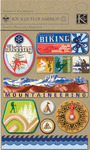 Boy Scouts Adventure Adhesive Chipboard