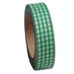 Leaf Green Gingham  Fabric Tape - Maya Road