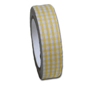 Sun Yellow Gingham  Fabric Tape - Maya Road