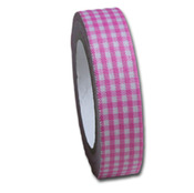 Blossom Pink Gingham  Fabric Tape - Maya Road