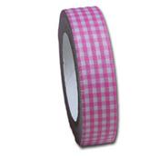 Blossom Pink Gingham  Fabric Tape - Maya Road
