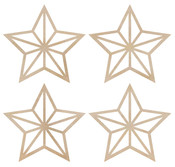 Mini Stars Wooden Flourishes - KaiserCraft