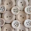 Natural Wood Buttons - Maya Road