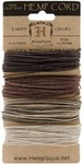 Earthy  20# Hemp Cord Card Set - Hemptique