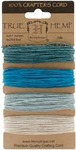 Aquamarine  20# Hemp Cord Card Set - Hemptique