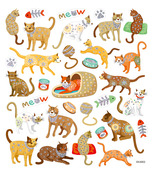Cats Meow Multi-Colored Stickers