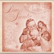 Dear Santa Collage Wood Stamp - Inkadinkado