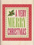 A Very Merry Christmas Wood Stamp - Inkadinkado