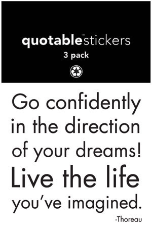 Go Confidently - Quote Stickers - Quotable Cards