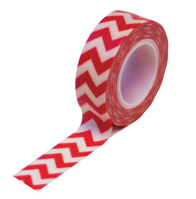 Red Chevron Washi Tape - Queen & Co