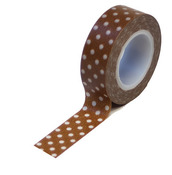 Brown Polka Dots  Washi Tape - Queen & Co