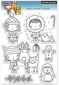 Mimi's Winter Friends - Penny Black Clear Stamps