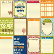 Bite Size Bits 12 x 12 Sheet Uncut Cards - Country Pumpkin Chowder - Jillibean S