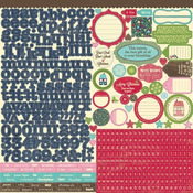 Cardstock 12x12 Stickers Sheet - Winter Tortellini & Spinach Soup - Jillibean So
