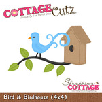 Bird And Birdhouse Metal Die - Cottage Cutz