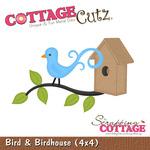 Bird And Birdhouse Metal Die - Cottage Cutz