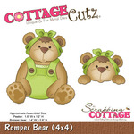 Romper Bear And Peeker 4x4 Metal Die - Cottage Cutz