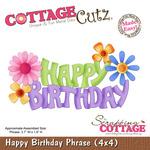 Happy Birthday Phrase 4x4 Metal Die - Cottage Cutz