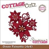 Ornate Poinsettia 4x4 Metal Die - Cottage Cutz