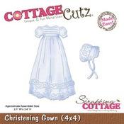 Christening Gown 4x4 Metal Die - Cottage Cutz