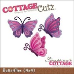 Butterflies 4x4 Metal Die - Cottage Cutz