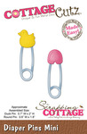 Diaper Pins Mini Metal Die - Cottage Cutz