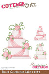 Tiered Celebration Cake 4x6 Metal Die - Cottage Cutz