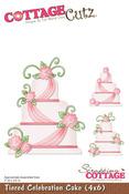 Tiered Celebration Cake 4x6 Metal Die - Cottage Cutz