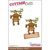 Hanging Monkey 4x6 Metal Die - Cottage Cutz