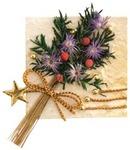 Gold Flower Bouquet Natural Art Sticker - Mrs. Grossmans