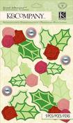 Modern Holiday Holly Grand Adhesions