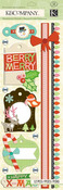 Modern Holiday Christmas Stitched Adornments Stickers