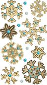 Wooden Snowflake Stickers