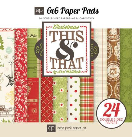 This & That Christmas 6 x 6 Paper Pad - Echo Park