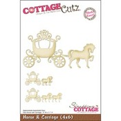 Horse And Carriage 4 x 6 Metal Die - Cottage Cutz