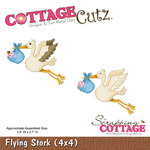 Flying Stork 4 x 4 Metal Die - Cottage Cutz