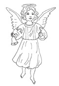 Angelic Tidings Cling Stamp - Melissa Frances