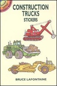 Construction Trucks Sticker Book -Dover