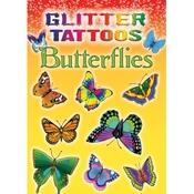 Glitter Tattoos Butterflies Book -Dover
