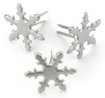 Pewter Snowflake Combo Fasteners