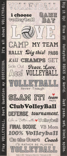 Volleyball Stickers - Creative Imaginations