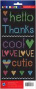 Lite Brite Phrases Stickers - American Crafts