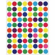 """Circle Multi Colored Stickers 1/2"""" - Hygloss"""