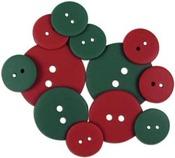 Red/Green Christmas Button Assortment